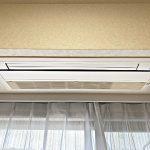 リビングのエアコンは天井埋め込み式(居間)